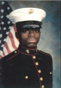 Darrell in 1991, as a newly-enlisted U.S. Marine.